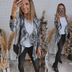 Ode to Cozy Grey Plaid Lightweight Jacket #love #me #coffee #girl #boutiqueshopping #fashioneditorial #supportsmallbusiness #LLS #outfitoftheday #LEGGINGS Fashion Shoot, Editorial Fashion, Spring Outfits, Winter Outfits, Coffee Girl, Black Plaid, Lightweight Jacket, Plaid Pattern, Skinny Pants