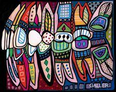 Teeth Original Painting Anatomy Dental Folk Art by Heather Galler Dentist Gift  #folkart