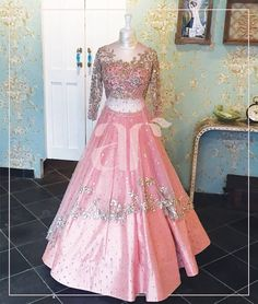 Cool Pink Lehenga Choli ,wedding lehenga choli,silk with net lehenga choli,floor length lehenga choli, Indian Wedding Gowns, Indian Gowns Dresses, Indian Bridal, Ball Dresses, Wedding Sarees, Prom Dresses, Pink Lehenga, Bridal Lehenga, Lehenga Choli