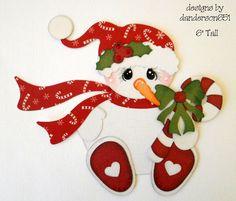 Snowman Winter Paper Piecing Set PreMade 4 Borders Album Scrapbook danderson651