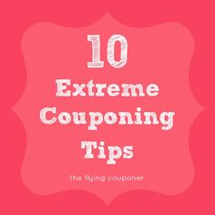 10 Extreme Couponing Tips. Learn as much as you can about couponing. The more you know, the more comfortable you will become. Saving money tips. The Flying Couponer Save My Money, Ways To Save Money, Money Tips, Money Saving Tips, Money Savers, Saving Ideas, Extreme Couponing Tips, Couponing 101, Shopping Coupons