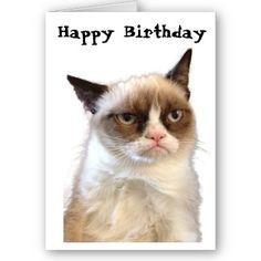 Grumpy Cat Birthday Card - #funny #cute #bday