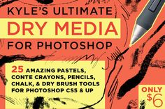 Check out Kyle's Dry Media for Photoshop by Kyle's Pro Design Tools  on Creative Market