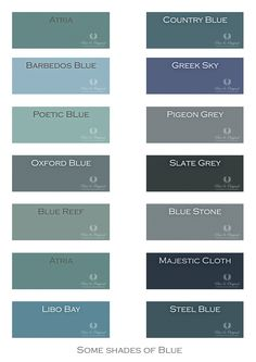 Color chart for lime paint and chalk paint colors - Shades of Blue. Chalk Paint, Lime Paint, Floor Paint and more. Barbedos Blue most beautiful - Chalk Paint Colors, Interior Paint Colors, Paint Colors For Living Room, Paint Colors For Home, Greek Blue, Lime Paint, Tadelakt, Country Blue, Bedroom Layouts