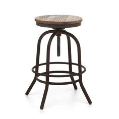 Distressed Wood Urban Counter Stool