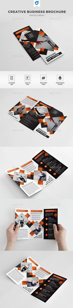 Creative Business Trifold Brochure Template #brochure Download: http://graphicriver.net/item/creative-business-trifold-brochure/11559411?ref=ksioks