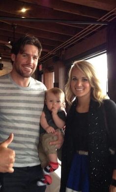 #Mikefisher, Isaiah, & #Carrieunderwood ♡♡