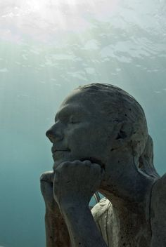 Recent - Underwater Sculpture by Jason deCaires Taylor Underwater Sculpture, Underwater Art, Underwater Photographer, Sculpture Museum, Sculpture Art, Jason Decaires Taylor, Salt Water Fish, Cancun Mexico, Under The Sea