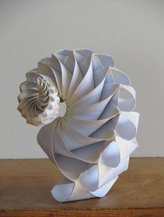 Made by Bradford Hansen-Smith / paper art spiral / origami Kirigami, Instalation Art, Origami Paper Art, Paper Folding Crafts, Origami Folding, Elements Of Art, Sculpture Art, Paper Sculptures, Book Art