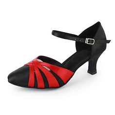 Customized Elegant Women's Satin Ankle Strap With Buckle Latin / Ballroom Dance Shoes - USD $ 44.99