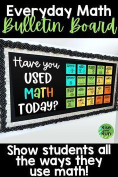 How we use Math Bulletin Board Kit