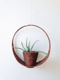 Vintage Hanging Planter  basket boho by ethanollie on Etsy, $55.00