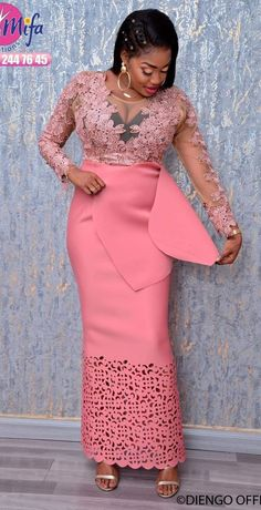 you're flawless in this neoprene nude dress, with its long sleeve design and skin-tight fit. wear it with simple heels, no need for more. perfect to accompany bae in a chic evening. African Maxi Dresses, Latest African Fashion Dresses, African Dresses For Women, African Print Fashion, African Attire, African Wear, Long Dresses, Dirndl Rose, African Lace Styles
