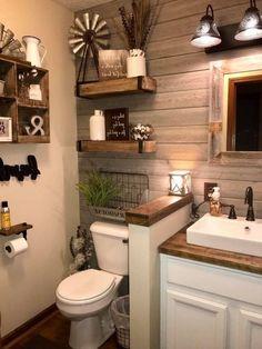 65 Farmhouse Master Bathroom Ideas and Remodel - Badezimmer - Bathroom Decor Bathroom Interior, Bathroom Ideas, Bathroom Organization, Organization Ideas, Bathroom Bin, Bathroom Colors, Shower Ideas, White Bathroom, Bathroom Storage