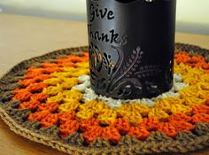 http://blog.mamaslittlemonkeys.com/2011/11/what-i-made_24.html Crochet Granny Circle #fall #thanksgiving #crochet