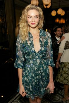 Tamsin Egerton at the London Collections dinner to celebrate men's fashion.