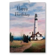 Wind Point Light Birthday Card Card http://www.zazzle.com/wind_point_light_birthday_card_card-137395962971810619