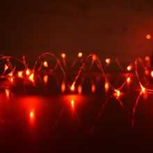 Ultra thin string lights or fairy lights for bringing a magical glow to your decorations. Rice sized LED micro bulbs on bendable ultra-thin metallic wire. Battery Operated Lights, Battery Lights, Led Fairy Lights, Led String Lights, Amazing Pics, Awesome, Party Lights, Red Led, Light Installation
