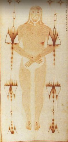 Painted copy of the Holy Shroud of Turin, Savona, Italy.