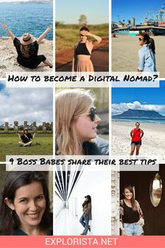 How to become a digital nomad. 9 boss babes share their top secrets for working while traveling full-time.