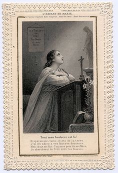 Child of Mary Jesus Christ Images, Jesus Faith, Faith Prayer, God Jesus, Vintage Holy Cards, Catholic Religion, Blessed Mother, Virgin Mary, Prayers