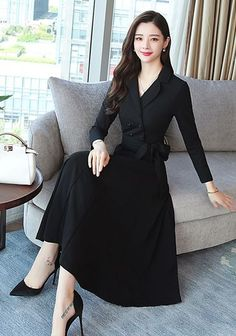 Buy formal dresses casual dresses for women at justfashionnow online shopping justfashionnow formal dresses long sleeve swing crew neck elegant paneled dresses the best casual dresses discover fashion trends at justfashionnow com – Artofit Elegant Dresses, Beautiful Dresses, Nice Dresses, Casual Dresses, Dresses For Work, Formal Dresses For Women, Women's Fashion Dresses, Dress Outfits, Types Of Dresses