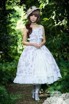 Rose Melody Flowers Lolita JSK Dress $99.99-Cotton Lolita Dresses - My Lolita Dress