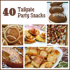 40 Tailgate Party Snacks | Six Sisters' Stuff #tailgate #football #collegefootball #team spirit