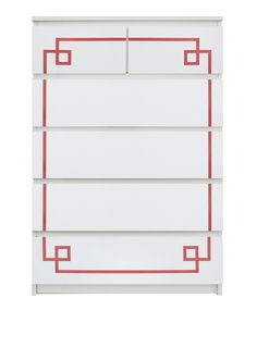 Show details for Pippa Malm #1 O'verlays Kit for IKEA MALM (6 drawer chest)