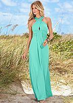 Keyhole Maxi Dress in Mint - $29- VENUS® Women's Clothing & Swimwear