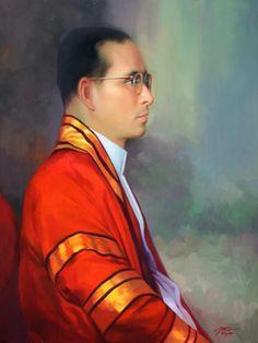 King of Thailand King Painting, King Rama 9, Bhumibol Adulyadej, Great King, King Of Kings, Auburn, Massachusetts, Cambridge, Thailand