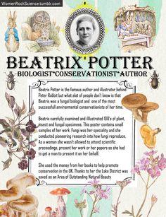 Beatrix Potter did way more than write children's books. Sources: V&A, Linnean, Scientist, AU Fungi