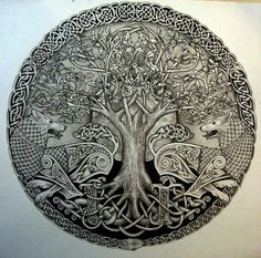 Yggdrasil, the Tree of Life, is not only one of the most well-known Viking symbols/Norse emblems but an important fundamental of the Norse principle itself. Yggdrasil Tattoo, Tattoo Odin, Inca Tattoo, Druid Tattoo, Celtic Symbols, Celtic Art, Celtic Knots, Mayan Symbols, Egyptian Symbols