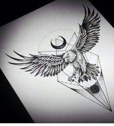Resultado de imagem para blackwork eagle tattoo