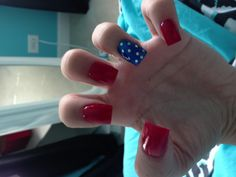 4th of July nails - nice and simple