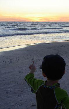 Watching the Sun Set on Madeira Beach, Florida