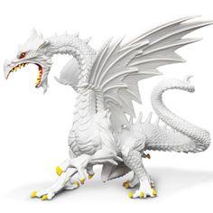 Glow-In-The-Dark Snow Dragon Fantasy Safari Ltd