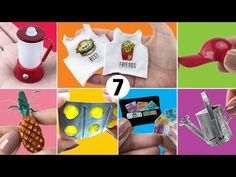 7 Easy Things to Make for Barbie Doll - DIY Miniature Barbie Dolls Diy, Barbie Food, Barbie Doll House, Barbie I, Barbie Dream, Popsicle Stick Crafts, Craft Stick Crafts, Crafts For Kids, Doll House Crafts