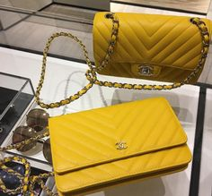 Yellow Quilted Coco Chanel Bag