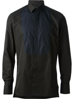LANVIN - contrast bib shirt 6