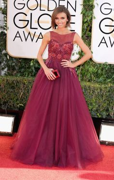 Red Carpet gown at the 2014 Golden Globe Awards.