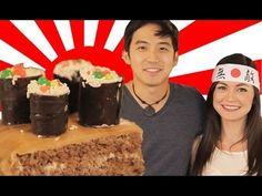 Sushi Cake for Jimmy Wong - How to Bake It in Hollywood with Ashley Adams I Love Food, Fun Food, Good Food, Restaurant Drinks, Ashley Adams, Sushi Cake, Sams, Food Ideas, Muffin