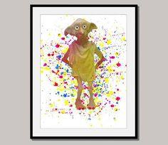 DOBBY 2 print poster designed for 10 x 8 inch mixed by interiorart