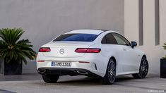 2018 Mercedes-Benz E-Class Coupe Edition 1 AMG Line Night Package (Color: Designo Kashmir White Magno) - Rear Three-Quarter HD Mercedes E Class Coupe, Mercedes E300, 2017 Bmw 5 Series, Benz E Class, Subaru Outback, Fast Cars, Cars And Motorcycles, Luxury Cars, Dream Cars