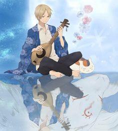 Natsume Yuujinchou ~~ Reflections :: Madara and Nyanko-sensei Cute Anime Boy, Anime Love, Anime Guys, Manga Boy, Manga Anime, Anime Art, Natsume Takashi, Pokemon Dragon, Hotarubi No Mori