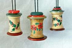 Ornaments from spool