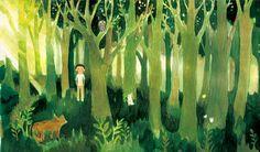 吉田尚令  Hisanori Yoshida - ポプラ社/やえがしなおこ著「どっから太郎と風の笛」表紙カバーイラスト