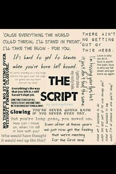 The script most popular songs