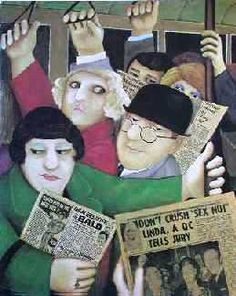 Beryl Cook (England 1926-2008) Tohetherness