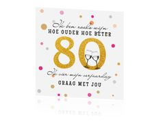 uitnodiging voor 80ste verjaardag